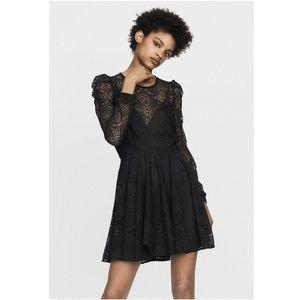 Maje  Black Women's Rylie Mini Casual Dress New